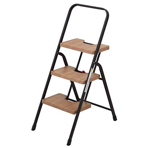 ステップ 3段 木目調 脚立 | 踏み台 折りたたみ おしゃれ チェア スツール ステップスツール(C218)