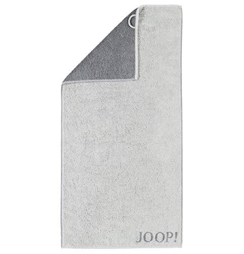 JOOP! Handtücher Elegance Doubleface Frottier hellgrau dunkelgrau 80/150