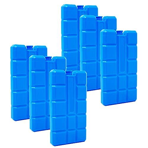 ToCi Paquetes de hielo cada 200 ml | Elementos de enfriamiento para la bolsa o caja de refrigeración, azul, 6 (EU)