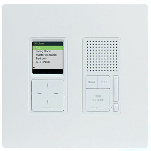 OnQ IC7001-WH Radiant Collection Selective Call Intercom Unit, with Screwless Faceplate, White - Replaces IC5000-WH