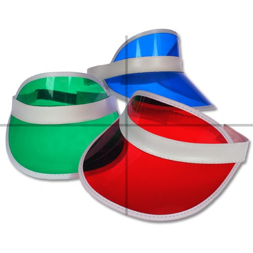 ClubKing Ltd - Visiera da dealer, colore: rosso