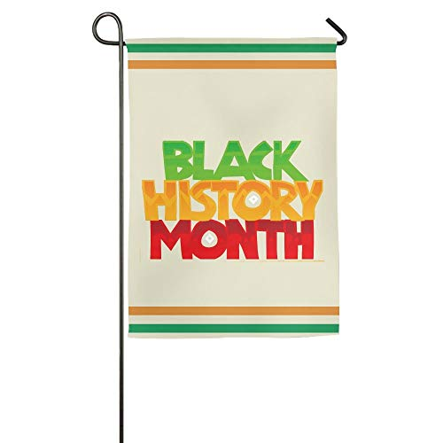 HUVATT Black History Month Color Logo Garden Flag Indoor & Outdoor Decorative Flags for Parade Sports Game Family Party Wall Banner 12x18 inches