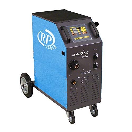 RP-TOOLS Schutzgas Schweißgerät MIG/Mag luftgekühlt 30-420 A 3 x 400 V digital 0.8-1.2 mm 4 Rollen Vorschub Made in EU