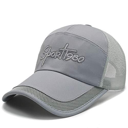 URIBAKY New Summer Outdoor Unisex Mesh Patchwork Baseball Cap Sun Hat Gorras de béisbol