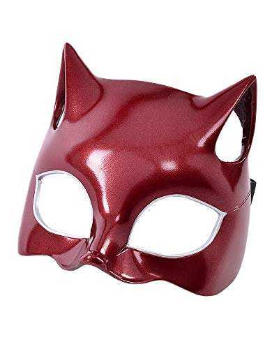miccostumes Women's Panther Ann Takamaki Phantom Thief Cosplay Accessory Face Covering (Red)