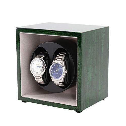 WENZHE Caja para Relojes Rinder Automático, Caja De Estuche De Almacenamiento De 2 + 0 Relojes