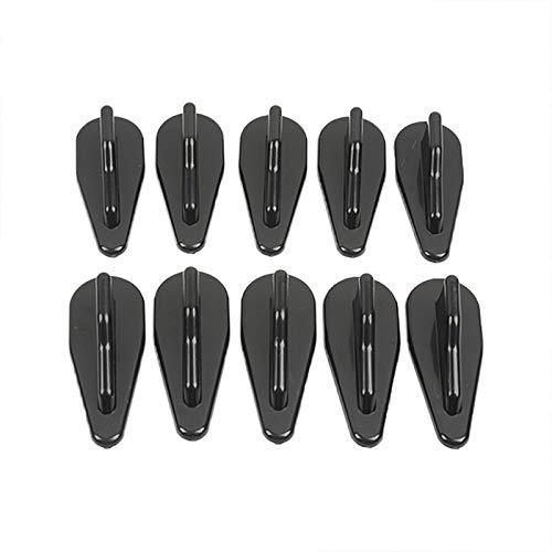 WBNCUAP Antena De Coche 10 PCS/Set Mini Shark Fin DIFERSER Universal CAMIÓN DE Coche SUV Kit Spoiler Spoiler GENERADOR DE Vortex Air (Color : Black)