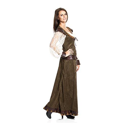 Kostümplanet® Lady Marianne Robin Hood Damen Kostüm Kleid Größe 40/42 - 2