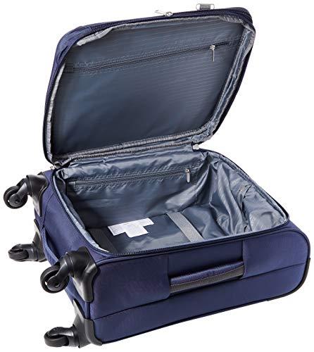 AmazonBasics Softside Carry-On Spinner Luggage Suitcase - 21 Inch, Navy Blue