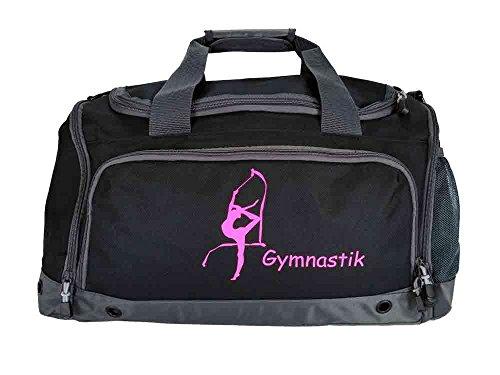 RSG,Sporttasche, Gymnastik Tasche, Trainingstasche, Wettkampftasche (schwarz) (schwarz)