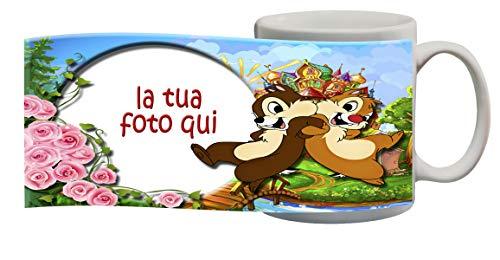 My Cust Tazza Cartoni CIP E CIOP CARTNI Disney Personalizzata con Foto,Nome Idea Regalo