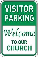 訪問者用駐車場教会へようこそアルミ金属看板