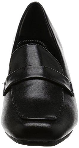 Romeo Valentino パンプス スクエアトゥ ヒール6.5cm 足囲3E PUレザー VB3302 ブラック 24.5 cm 3E