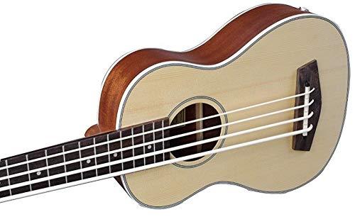 LOIKHGV 30 Zoll Guitarra Electrica Mini-Gitarre Musikinstrumente Professionelle Fichte Sapele U Bass Ukulele Kleine Gitarre UB-513, wie abgebildet, 30 Zoll