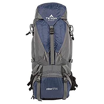 TETON Sports Hiker 3700 Ultralight Internal Frame Backpack – Not Your Basic Backpack  High-Performance Backpack for Hiking Camping Travel and Outdoor Activities  Sewn-in Rain Cover  Navy ,33  x 15.5  x 12.5