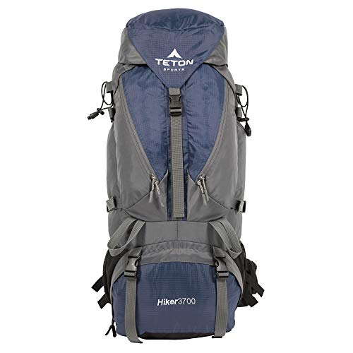 TETON Sports Hiker 3700 Ultralight Internal Frame Backpack – Not Your Basic Backpack; High-Performance Backpack for Hiking, Camping, Travel, and Outdoor Activities; Sewn-in Rain Cover; Navy ,33' x 15.5' x 12.5'