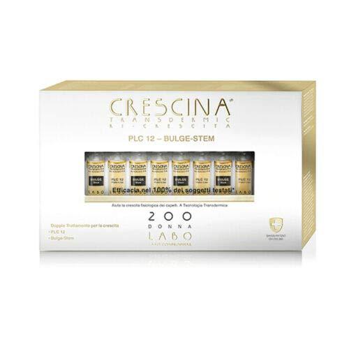 CRESCINA Plate Like PLC12 BULGE STEM Ri-Crescita Capelli 200 DONNA 20 Fiale