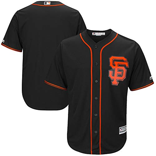 YQSB Major League Baseball San Francisco Giants Sportbekleidung Bestickte Baseballbekleidung,Black,Men-XL