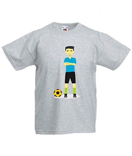 Camiseta de deporte con diseño de balón de fútbol, jugador de capitán,...