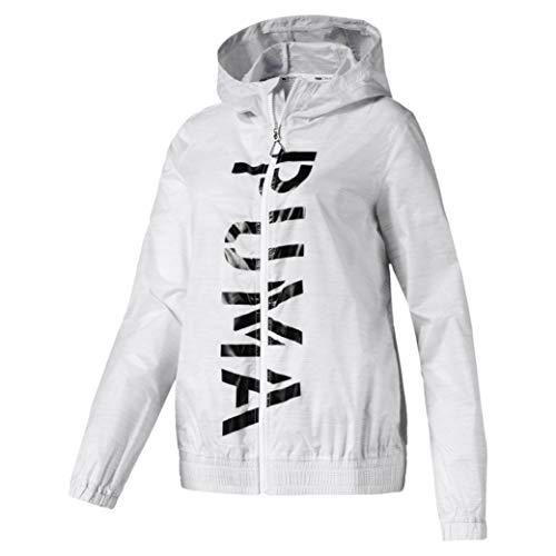 PUMA Damen Be Bold Graphic Woven Jacket Trainingsjacke, White, S