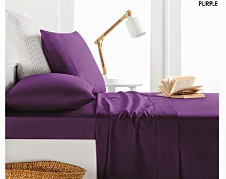 Dreamz étui Parure de lit en coton égypcravaten 650Super Doux fils Parure de lit 5pièces Euro Couette pour lit super king Taille 100% coton 650tc massif, Violet