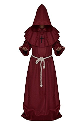 Kostor Disfraz de Monje Mnchengladbach Disfraz de Monje Disfraces 5Colores (Tallas SXL