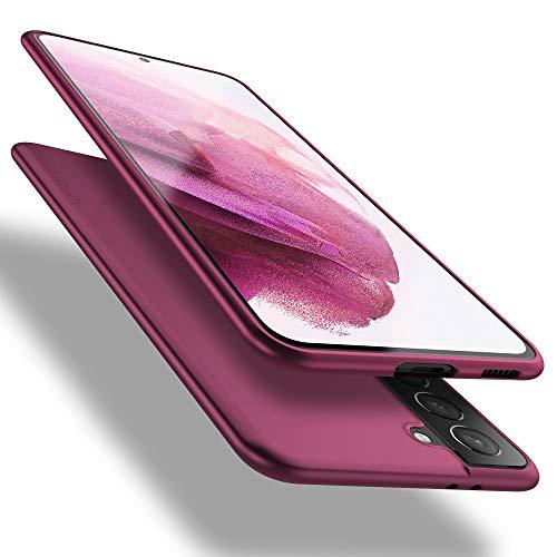 X-level Samsung Galaxy S21 5G Hülle, [Guardian Serie] Soft Flex TPU Hülle Superdünn Handyhülle Silikon Bumper Cover Schutz Tasche Schale Schutzhülle für Samsung Galaxy S21 5G - Weinrot