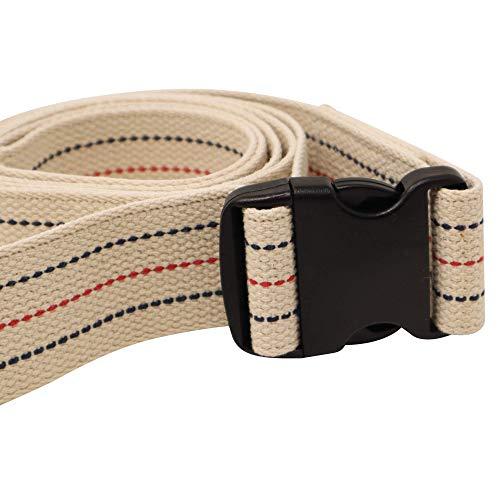 Premium Patient Transfer/Walking Gait Belt with Plastic Quick Release Buckle - Beige 72'L x 2'W…