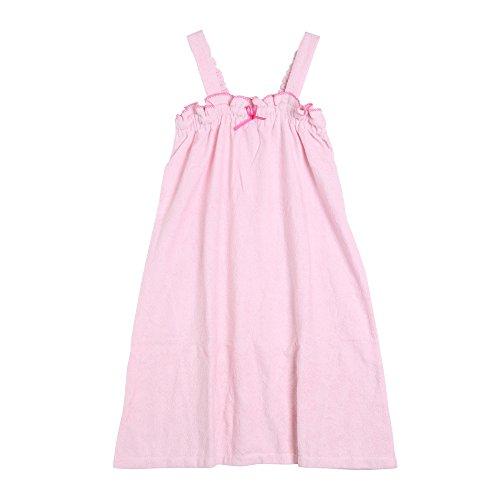 リボンがキュートなワンピースバスラップ ドレス レディース(ピンク×ピンク、M)