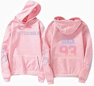 LANYAOWEN Jungkook Unisex Hoody Kpop jung kook Hoodies 97 Sweatshirt Love Yourself Kpop Hoody Sweatshirt XL for Casual Harajuku Kpop Hoody (Color : Hoodies Pink 93, Size : XS)