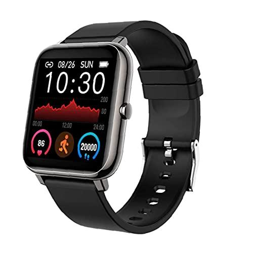 FeelMeet Actividad podómetro Inteligente Aptitud del Reloj Pulsera P22 Rastreador Negro Inteligente del Ritmo cardíaco Impermeable para Hombres, Mujeres Android