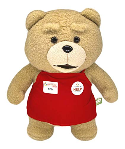 Teddy Bear in Red Apron, Ted from The Movie Ted, Stuffed Toys Fun & Cute Plush Gift 13'
