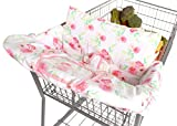 BINXY BABY 2-in-1 Cushy Cart Cover and High Chair Cover | Universal Fit | Includes Storage Pouch (Full Bloom)