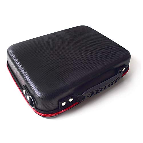 TOUMEI Large Size Carrying Case for Video Projector 3D DLP and Accessories Hard Shell Protection Suitable for TOUMEI COCAR V5 V6 T5 T6 K1 AEHR Yaufey VANKYO WOWOTO H10 H8 H9 T8E Black