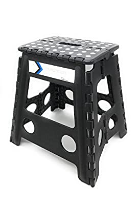 Folding Step Stool 16 Inches Height by Myth With Anti-Slip Surface Great for Kitchen, Bathroom, Bedroom, Kids or Adults Super Strong Holds Up to 330 LBS