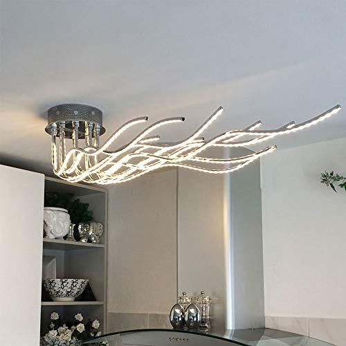 Moderna y minimalista personalidad de aluminio, con forma de árbol en forma de árbol para comedor, salón, lámpara de techo