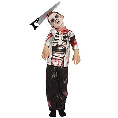 Lizzy, Costume spaventoso da zombie per bambini, per Halloween e feste in maschera, con fascia per capelli