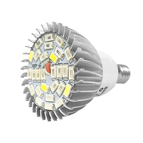 28 W 28 LED Leuchtmittel Wachstumslampe Vollspektrum Beleuchtung mit 7 Wellenlängen Gartenbau Leuchtmittel AC 85 – 265 V für Pflanzen, Blumen und Gemüse innen / Gewächshaus / Garten E14 / GU10 (E14)