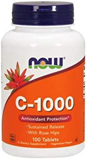 VitaminC-1000, Sustained Release 100 Tabs by Now Foods (Pack of 2)