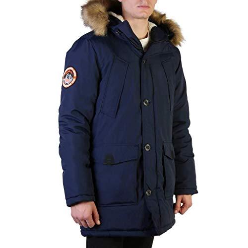 Superdry Everest Parka, Bleu (Nautical Navy 09S), L Homme