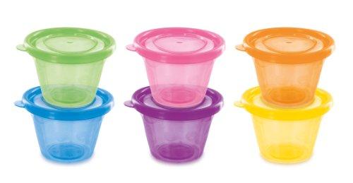 dBb 209400 Remond Set de 6 Petits Pots avec Couvercles - Assortis