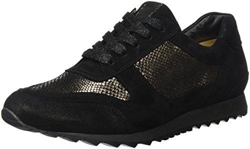 Hassia Damen Barcelona, Weite H Sneaker, Schwarz (Schwarz/Bronce),36 EU,3.5 UK