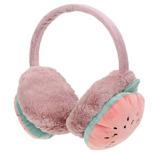 SOIMISS Kinder Winter Ohrenschützer Fleece Ohrwärmer Weichen Plüsch Ohrhüllen Winter Ohrenschützer Niedlichen Ohrenschützer für Kinder Baby Weihnachten Geburtstagsfeier Geschenke (Rosa 2)