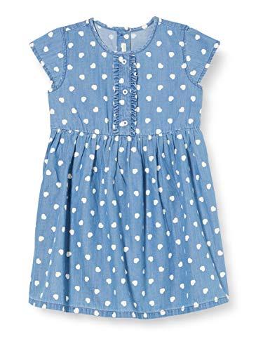 United Colors of Benetton Vestito Vestido, Azul (Iris Orchid 64e), 52 (Talla del Fabricante: 56) para Bebés