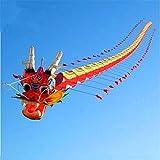 aolongwl Cometa Cometa De Dragón Tradicional China 7 M con Línea De Mango Weifang Kite Big Outdoor Tartan