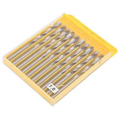 Brocas trenzadas, 10 piezas/caja Broca HSS, taladro eléctrico para taladro de pistola ordinario ((acero de alta velocidad 7.0, 10 piezas/caja 4241))