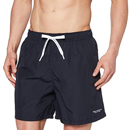 Armani Exchange The Surfer's Bañador, Azul (Navy - Blue Navy 00136), X-Large para Hombre