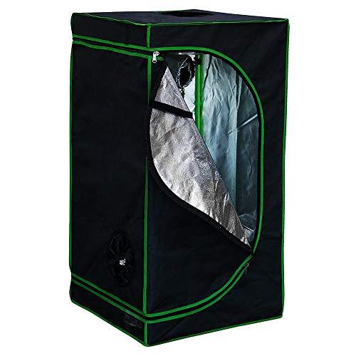 Melko Growbox 60x60x120 cm Growschrank Oxford 600D Growzelt Zuchtschrank Zimmergewächshaus Pflanzenzucht Anbauzelt, Lichtdicht und Wasserdicht