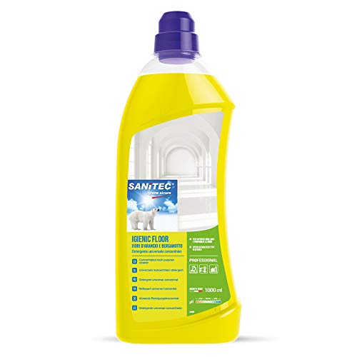 Sanitec Igienic Floor, Detergente Pavimenti, 1000 ml - Fiori d'Arancio e Bergamotto