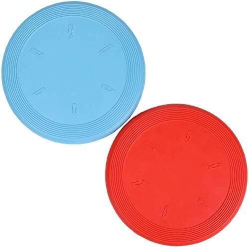 Feixun Juguete Perro Flyer, Paquete de 2, (Rojo + Azul) 7,5 Pulgadas